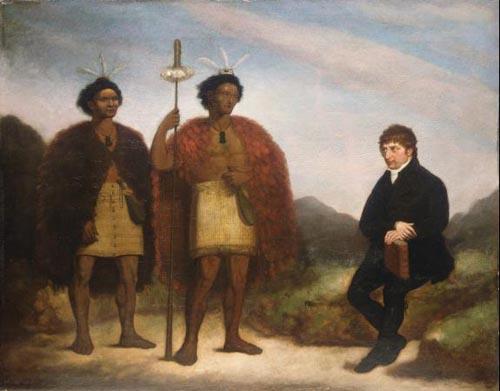 Waikato (left), Hongi Hika (centre) and Thomas Kendall (right)