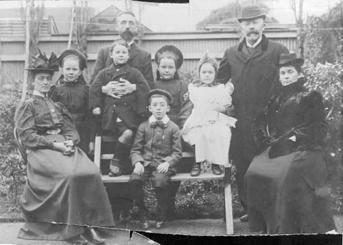 The Beauchamp family and friends, about 1898