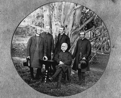 Five Anglican bishops, photographed probably in the early 1860s