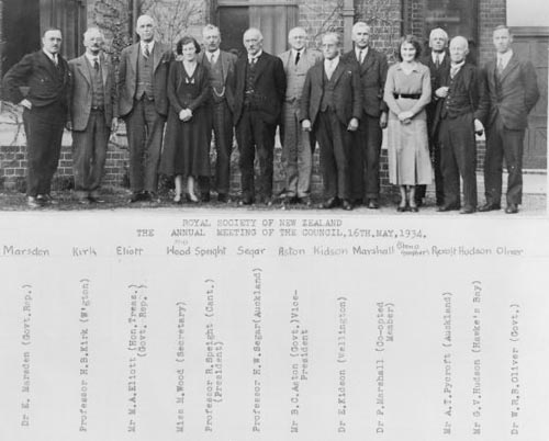 Council of the Royal Society of New Zealand, 1934