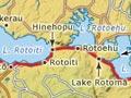 Lake Rotoiti to Lake Rotomā