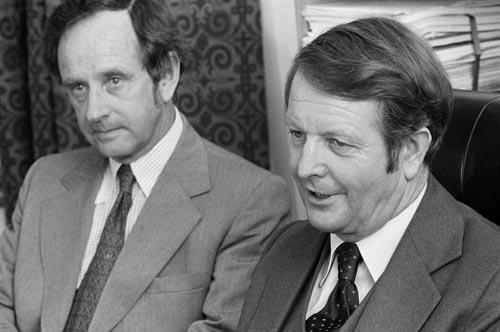 Bill Rowling and Bob Tizard, 1974