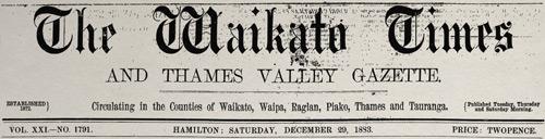 Waikato Times masthead