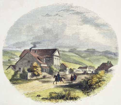 Wesleyan mission, Wellington, 1845