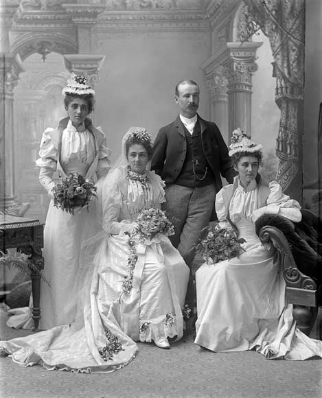Traditional wedding, 1890s