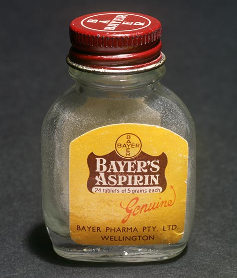 Bayer's aspirin bottle