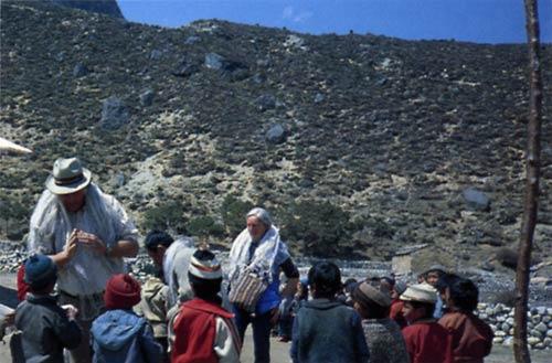 Hillary with June Mulgrew in Nepal