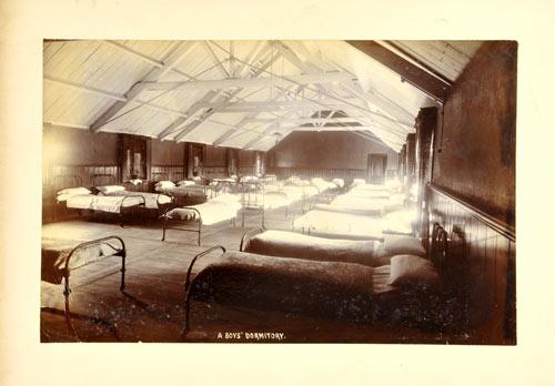 Boys' dormitory, Burnham Industrial School, 1874