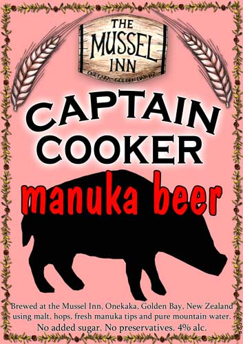 Mānuka beer from the Mussel Inn