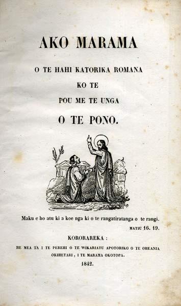 Catechism in Māori, 1842