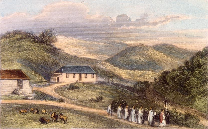 Catholic church, Wellington, 1840s