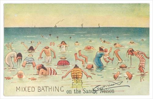 Nelson beaches: mixed bathing at Tāhunanui