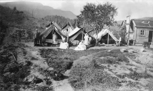 Typhoid camp, 1924