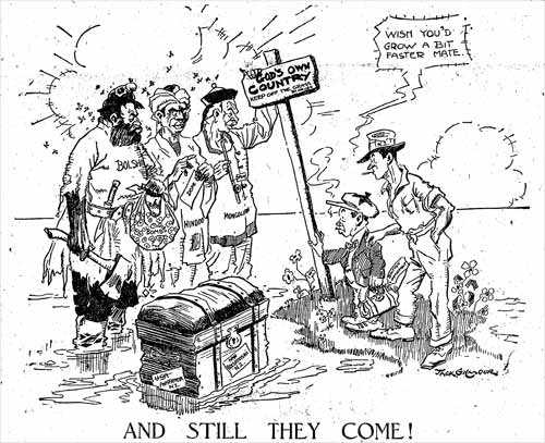 Anti-immigrant cartoon, 1925