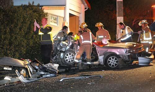 Car crash, Dunedin, 2010