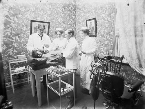 Dental surgery, around 1910