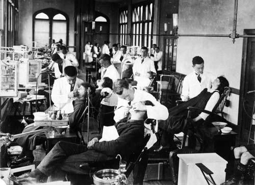 Dental students, Otago University