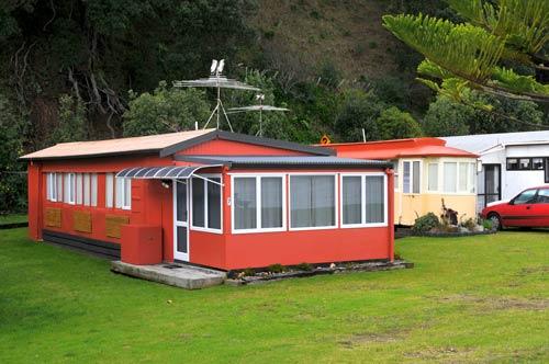Tram baches at Waikawau
