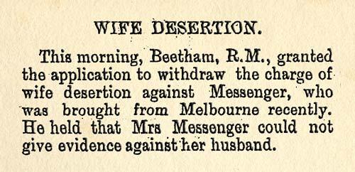 Marital desertion