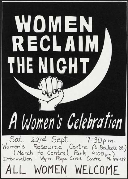 Reclaim the night poster.