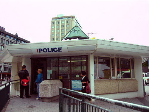 Cathedral Square police kiosk