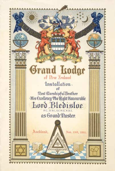Lord Bledisloe, Grand Master