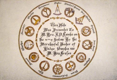 Freemason's plate