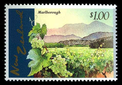 Marlborough vineyard stamp