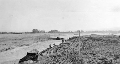 Wairau River diversion, 1963