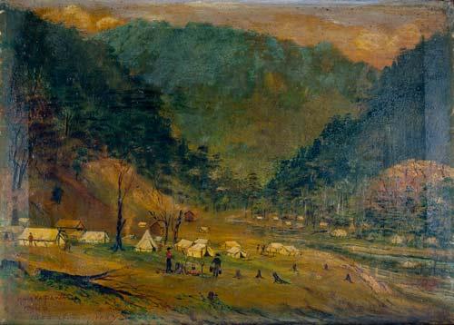 Māhakipawa camp, 1888
