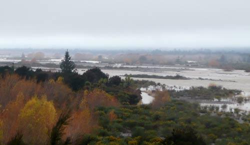Wairau River in flood