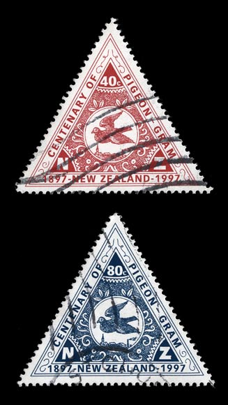 Pigeon-post stamps