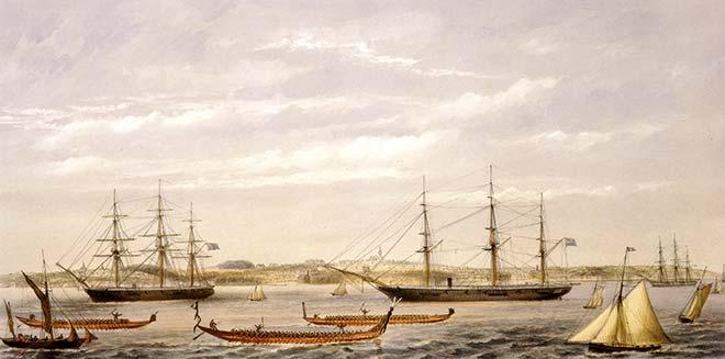 Auckland Anniversary regatta, 1862