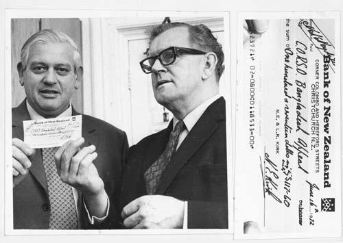 A cheque for CORSO