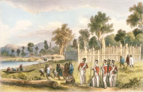 Troops at Maraenuka pā
