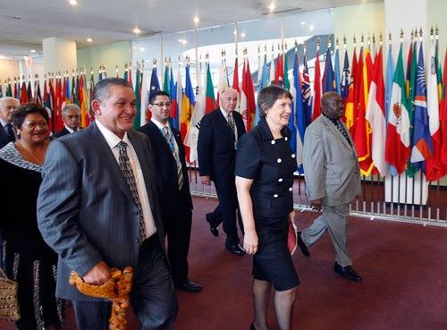 Helen Clark at the UN, 2009