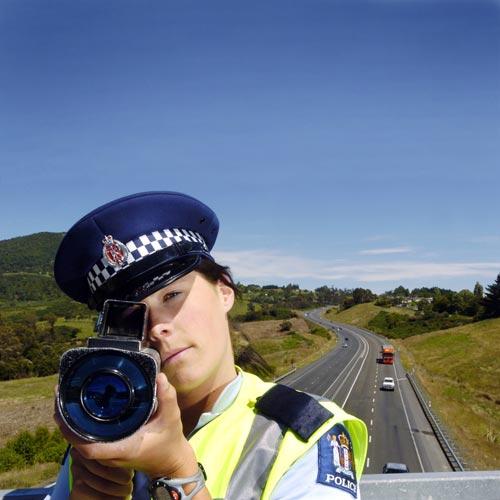 Policing technology: laser speed camera, 2009