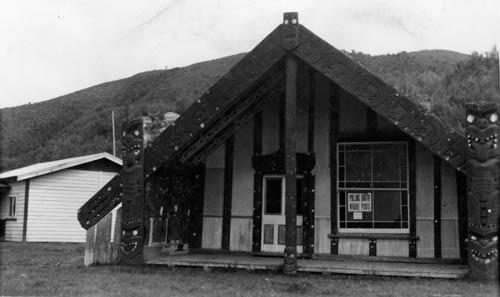 Māori polling booth, 1930s