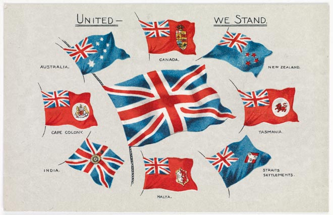 Union Jack and colonial flags