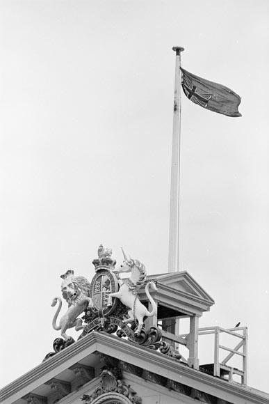 Upside-down flag