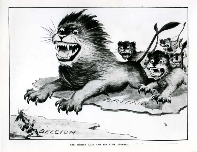 The British lion and his cubs aroused