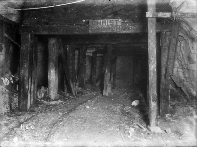 Christchurch cavern, Arras, 1917
