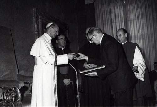 Ambassador to Italy with the Pope, 1970