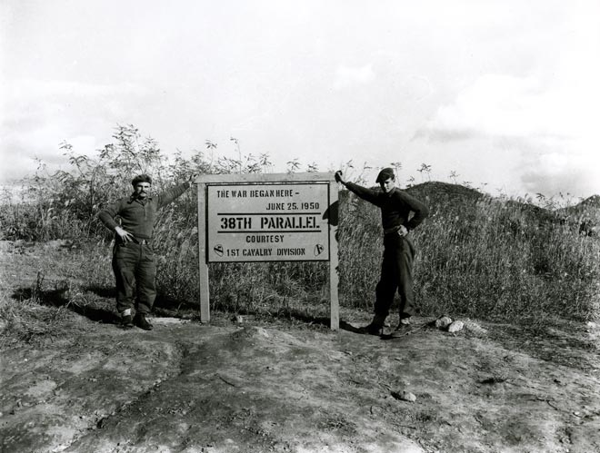 Kiwi soldiers at the 38th parallel
