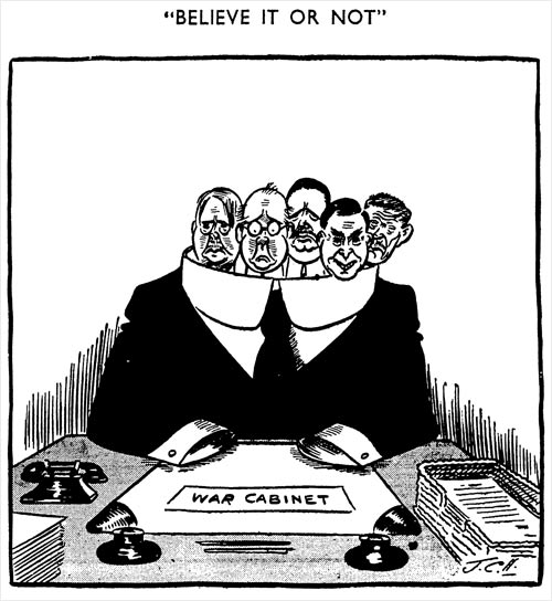War cabinet cartoon