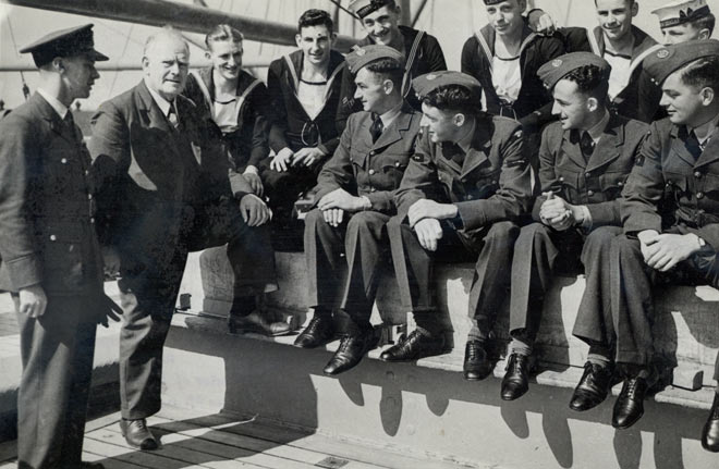 Arrival of airmen and naval reservists in Britain