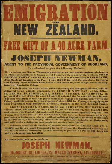 Emigration poster