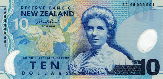 Kate Sheppard on the $10 note