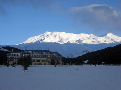 Snow on Mt Ruapehu