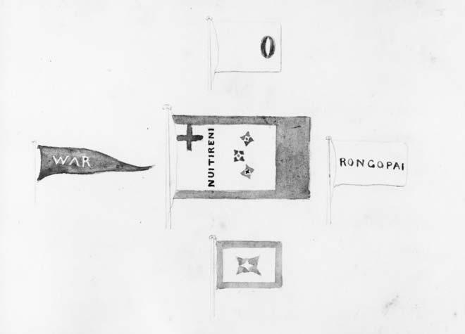Pōtatau's Nui Tireni flag